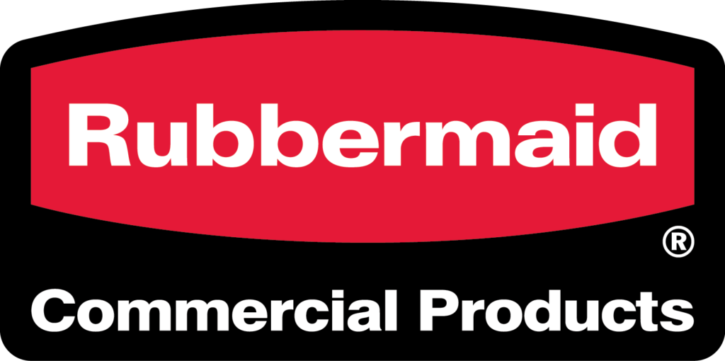 Rubbermaid Commercial Products Red and Black Logo